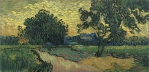Печать на холсте Field with Trees, the Chateau of Auvers, 1890